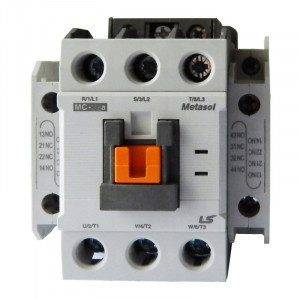 22KW-50A-دو کنتاکت کمکی باز و بسته-بوبین AC3-220 VAC