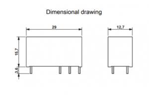 رله سرامیکی تک کنتاکت -12DC و(8 پایه خطی 16 آمپر)
