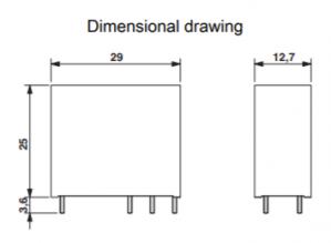 رله شیشه ای تک کنتاکت -24DC و(8 پایه خطی 16 آمپر)